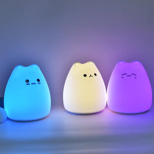 Little Cat Silicone Night Light