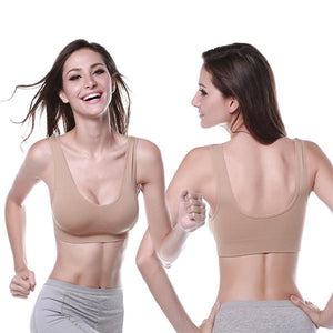 Push Up Non Padded Wireless Soft Sports Bra