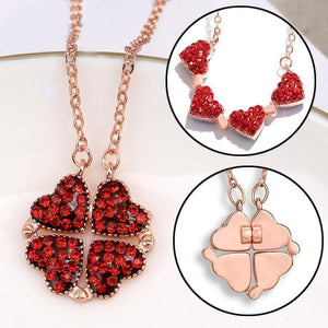 2-in-1 Four Leaf Clover - Heart Necklace