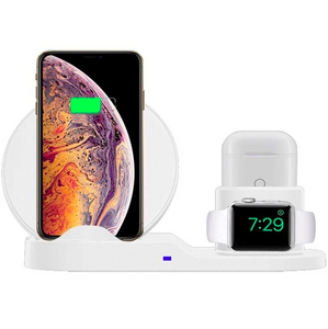 3 in 1 Qi Wireless Charger for iPhone, Apple Watch & Airpods