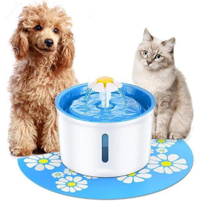 Cat Sherpa Light-Up Fountain