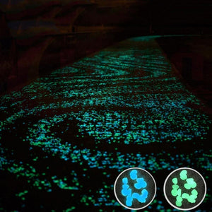 Glow in the Dark Garden Pebbles (100pcs)