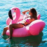 Giant Inflatable Pink Flamingo Pool Float