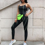 Laced Reflective Scoop Workout Bodysuit
