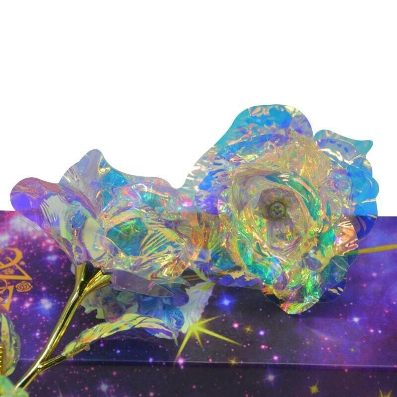 Galaxy Rose Flower with Love Base
