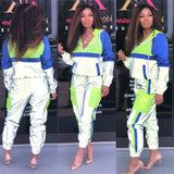 High Visibility Windproof Reflective Neon 2 Piece Tracksuit