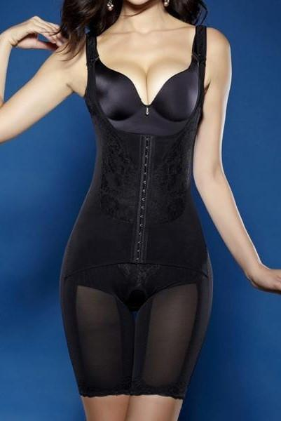 Black Mid Thigh Full Body Shaper