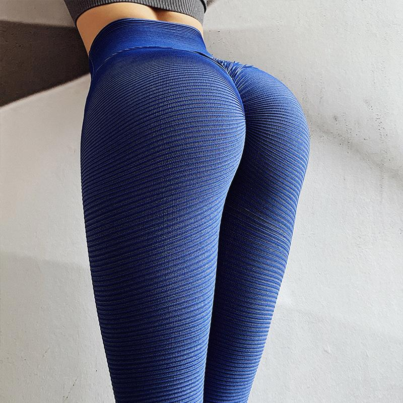 V-Taper High Waist Booty Striped Push Up Workout Leggings