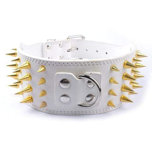 3 inch Wide Spiked Studded Leather Dogs Collars