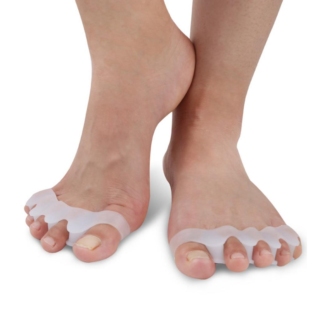 Puregemco 1 Pair Silicone Foot Care Gel Bunion Toe Separators