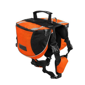 Dog Outdoor Backpack - Carry Bags Large Dog Reflective Adjustable Saddle Bag Harness