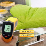 Digital Laser Thermometer 140 x 70 x 38mm Red Laser Infrared Thermometer