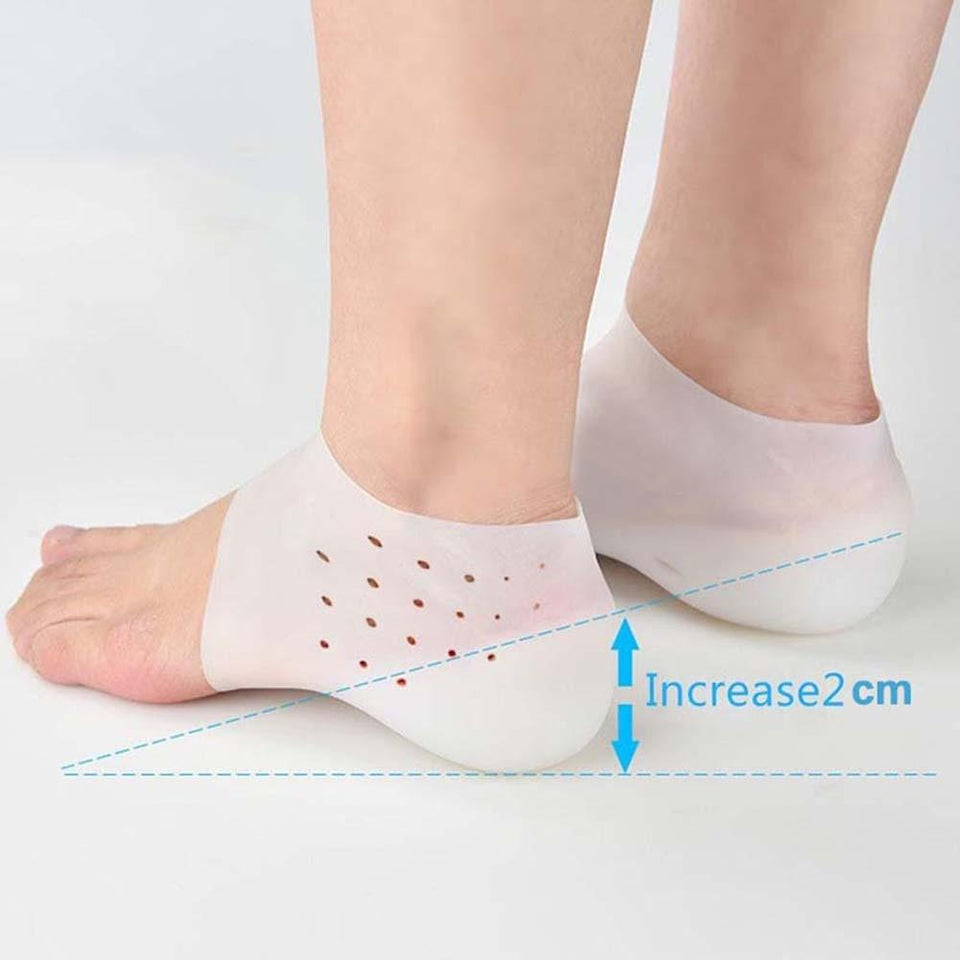 Puregemco Hot Unisex Invisible Height Increase Socks Heel Pads