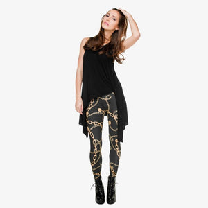 Gold Chains 3D Print Leggings