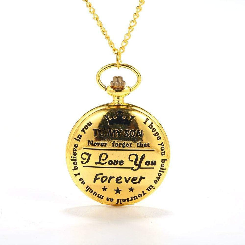 Retro Roman Numerals Pocket Chain Watch