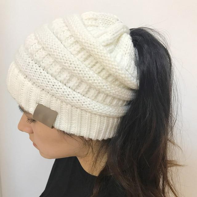 Stretchable Ponytail Beanie