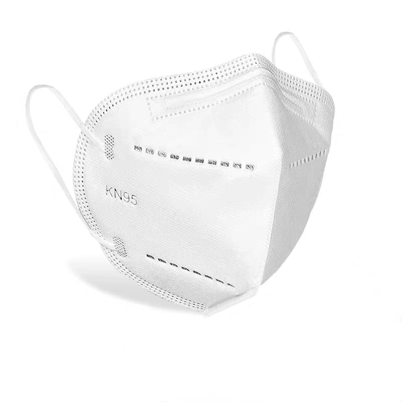 KN95 Mask Protection mask, white, regular size.  Suitable for respiratory protection, filtering dust, haze, bacteria and other harmful particles in the air.