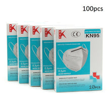 Load image into Gallery viewer, 100pcs KN95 Respiratory Face Mask Protective Gear
