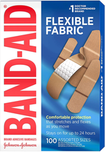 Load image into Gallery viewer, Band-Aid Brand Flexible Fabric Adhesive Bandages for Wound Care & First Aid, Assorted Sizes, 100 ct, Beige