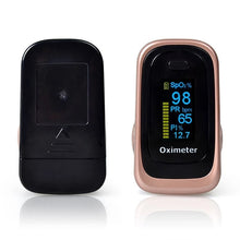 Load image into Gallery viewer, Portable Finger Pulse Oximeter Blood Oxygen Sensor O2 SpO2 Heart Rate Monitor - DFW Medical Supplies LLC
