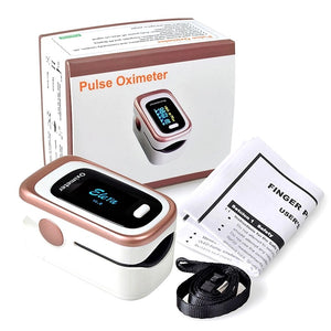Portable Finger Pulse Oximeter Blood Oxygen Sensor O2 SpO2 Heart Rate Monitor - DFW Medical Supplies LLC