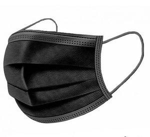 20pcs 3 Layer Black Protective Face Mask for Adults