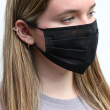 Load image into Gallery viewer, 50pcs 3 Layer Black Protective Face Mask
