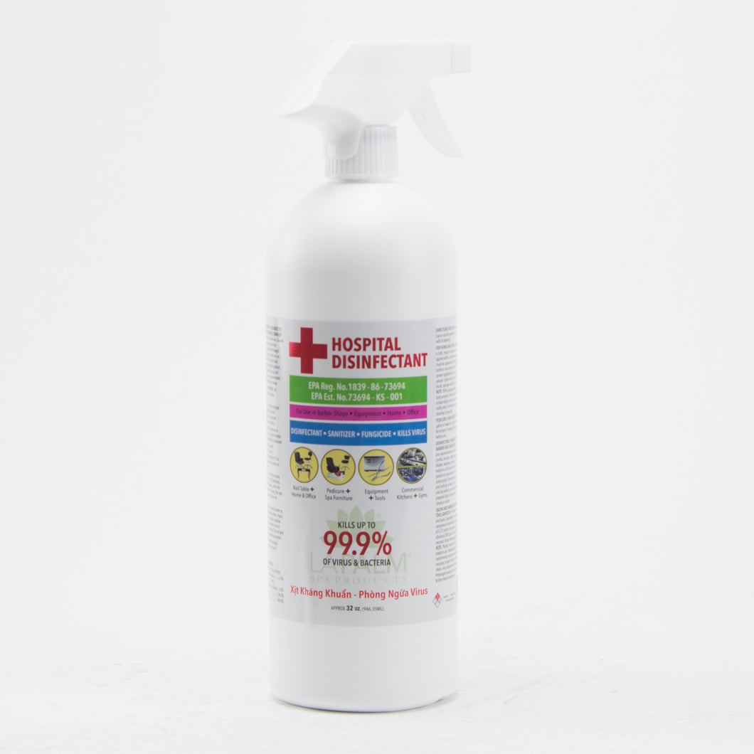 Hospital Disinfectant Kills Up to 99.9% of Virus and Bacteria 32 oz Spray Bottle - DFW Medical Supplies LLC