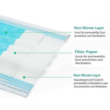 Load image into Gallery viewer, 50pcs 3 Layer Protective Mask - DFW Medical Supplies LLC