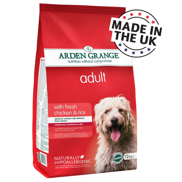 Arden Grange Adult Dry Dog Food Chicken Rice 12KG