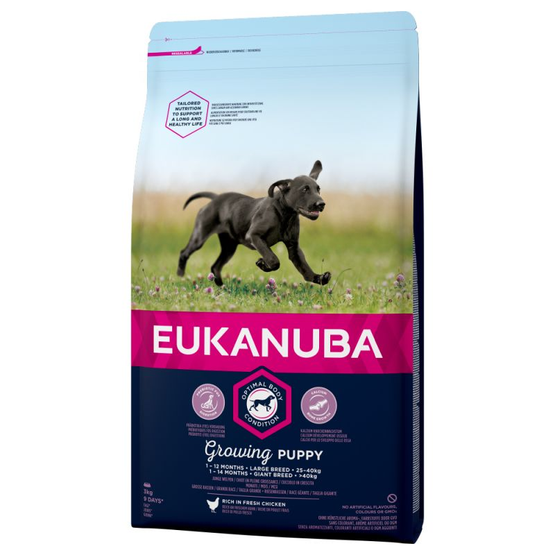 Eukanuba Puppy Large Breed Dry Dog Food Chicken Flavour Kibble 15KG