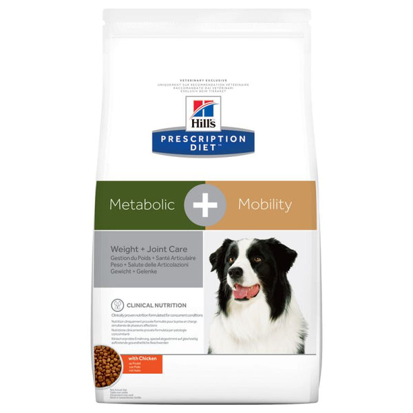 Hills Prescription Dry Dog Food Diet Canine Metabolic Mobility Weight Joint Care - Chicken 12KG