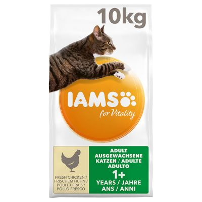 IAMS Dry Cat Food Vitality Adult Cats Fresh Chicken 10KG