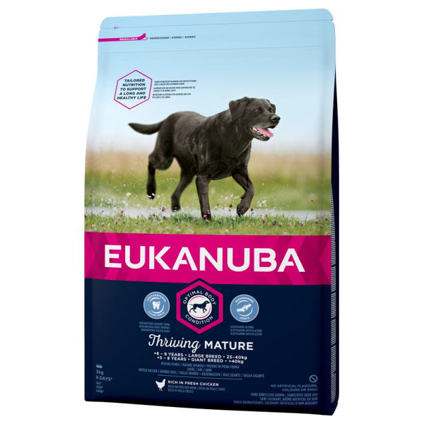 Large Breed Dry Dog Food Eukanuba Thriving Mature Chicken 15KG