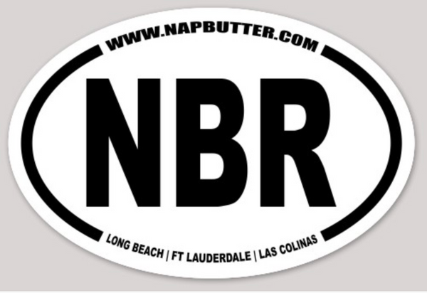 NBR Oval Sticker