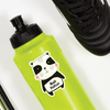 Cheerful Panda Die Cut Name Label on Reusable Water Bottle