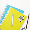 Panda Ballerina Die Cut Name Label on School Notebooks