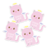 Four Angelic Kitty Die Cut Name Labels