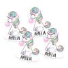 Bubblegum Unicorn Die Cut Name Labels
