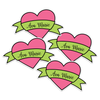 Ribbon Heart Die Cut Name Labels