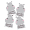Happy Hippo Die Cut Name Labels