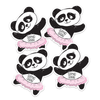 Panda Ballerina Die Cut Name Labels