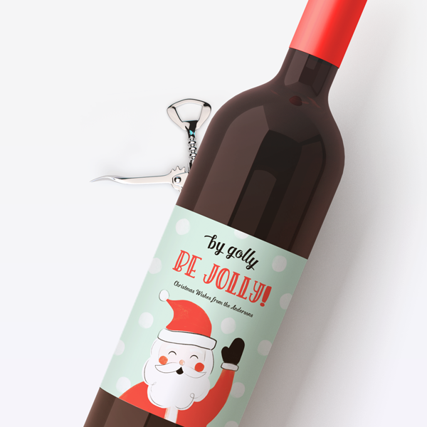 Be Jolly Wine Labels
