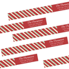 Candy Cane Wrap Around Address Labels