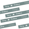 Christmas Star Wrap Around Address Labels