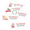 Classic Christmas Return Address Labels