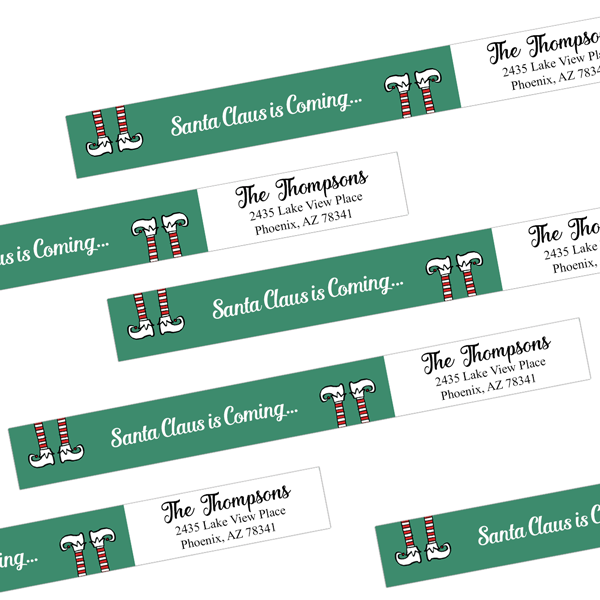 Elf Wrap Around Address Labels