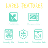 Bright Allergy Labels (30 Labels)