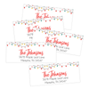 Retro Christmas Lights Return Address Labels