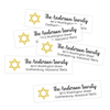 Star of David Return Address Labels